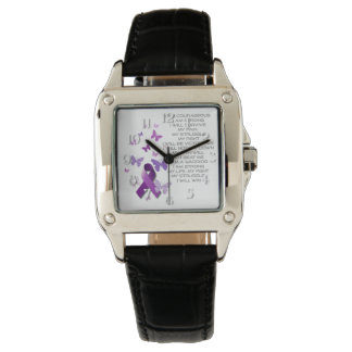 Purple Awareness Ribbon with poem Watch