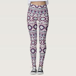 Purple Aztec Blend Women's Leggings