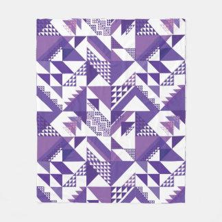 Purple Aztec Fleece Blanket