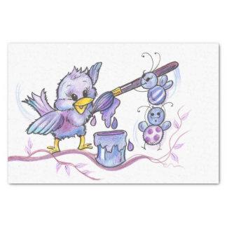 Purple Baby Bird Tissue Paper