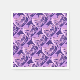 Purple Baby Buggy Disposable Napkins