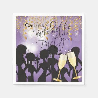 Purple Bachelorette Party Disposable Napkins
