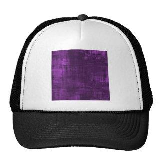 purple background trucker hat