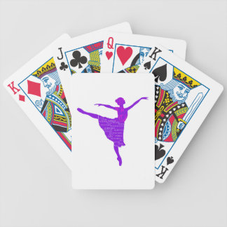 Purple Ballerina Poker Playing Cards