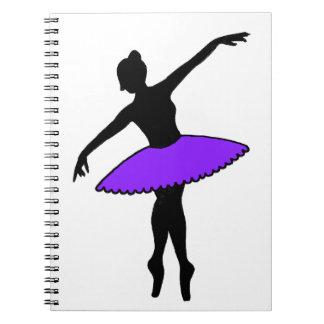 Purple Ballet Dancer Ballerina Dance Teacher Gift Notebook