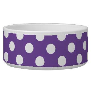 Purple Band White Polka Dots