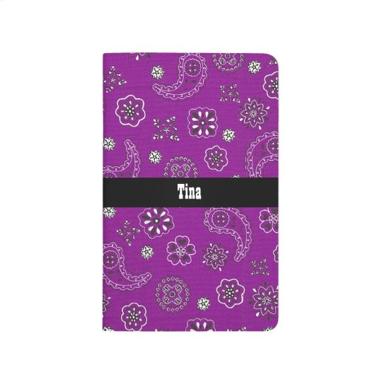 Purple Bandana Pattern Journal