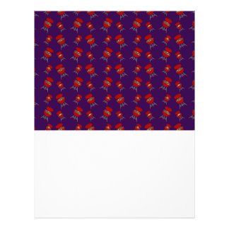 purple barbeque pattern flyer design
