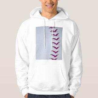 Purple Baseball / Softball Stitches Hoodie