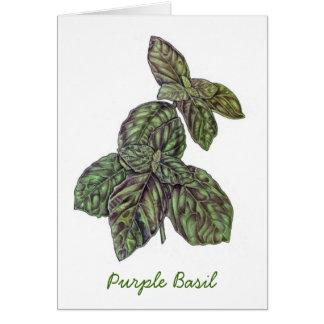 Purple Basil Card