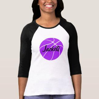 Purple Basketball 3/4 Sleeve T-shirt