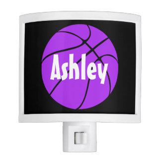 Purple Basketball Custom Nightlight Nite Lites