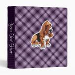 Purple Basset Hound Vinyl Binders