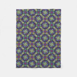 Purple Bat Fleece Blanket
