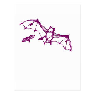 purple bat postcard