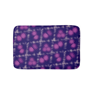 Purple bath mat