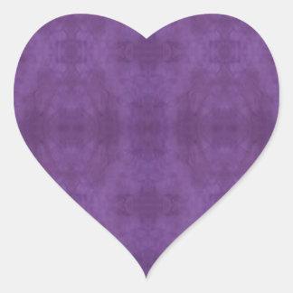 Purple Batik Heart Sticker