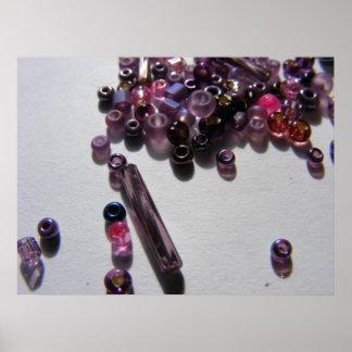 Purple Beads 1 Poster