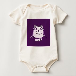 purple bear wtf baby bodysuit
