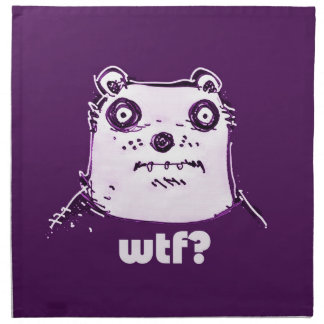 purple bear wtf napkin