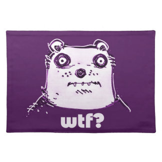purple bear wtf place mats