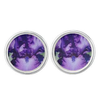 Purple Bearded Iris Cuff Links