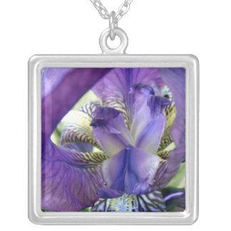 Purple Bearded Iris Flower Irises Necklace Pendant