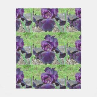 Purple Bearded Iris Throw Blanket