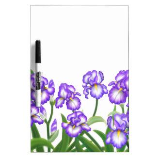 Purple Bearded Irish Garden Dry Erase Board