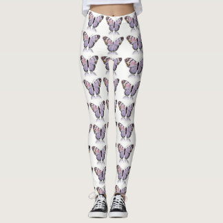 PURPLE BEAUTIFUL BUTTERFLY LEGGINGS