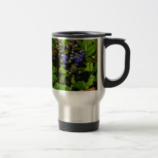 Purple Bee Balm and Bumble Bee 15 Oz Stainless Steel Travel Mug