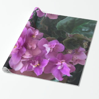 Purple Begonias Wrapping Paper