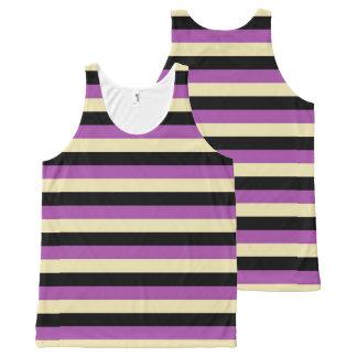 Purple, Beige and Black Stripes