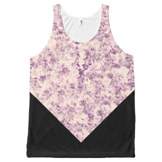 Purple/Beige/Black Floral