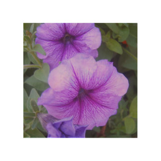 Purple bells wood wall decor
