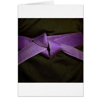 Purple Belt Card