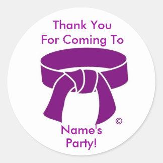 Purple Belt Thank You Stickers