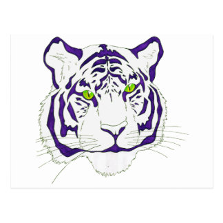 Purple Bengal Tiger Postcard