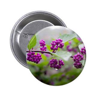 Purple Berries 2 Inch Round Button