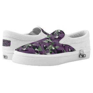 Purple Berries & Leaves Slip-On Sneakers