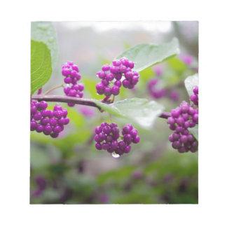 Purple Berries Notepad
