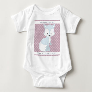 Purple Berry Polka-Dots•Baby Arctic Fox•Custom Baby Bodysuit