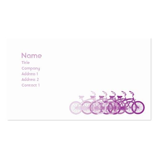 Purple Bike - Classic Business Card