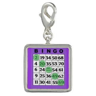 Purple BINGO Card Lucky Charm
