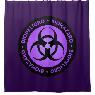 Purple Biohazard Warning Sign