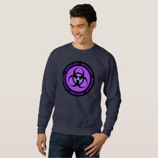 Purple Biohazard Warning Sign Sweatshirt