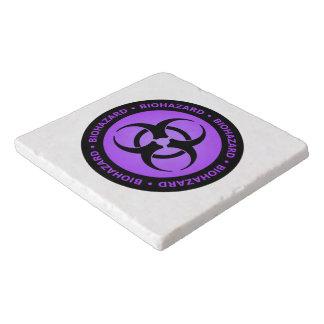 Purple Biohazard Warning Trivet