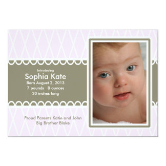 Purple Birth Announcement