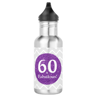 Purple Birthday 60 & Fabulous Celebration 532 Ml Water Bottle