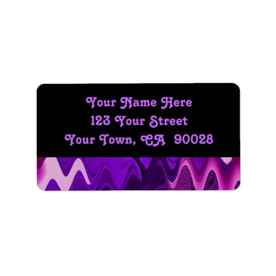 purple black abstract label